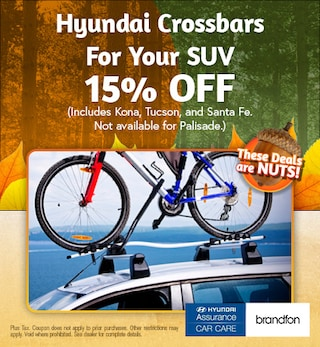 Hyundai Crossbars For Your SUV 15% Off