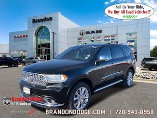 New 2020 Dodge Durango CITADEL AWD Sport Utility for sale in Littleton CO