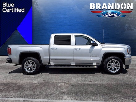 Featured Used 2017 GMC Sierra 1500 SLT 4WD Crew Cab 143.5 SLT for sale in Tampa, FL