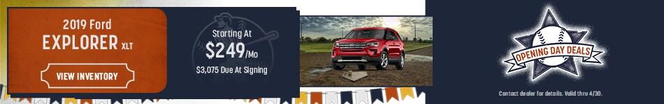 2019 Ford Explorer XLT April