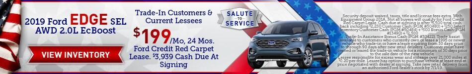 2019 Ford Edge SEL AWD 2.0L EcBoost