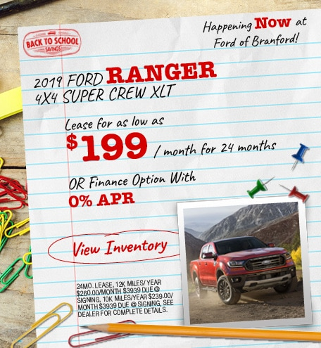 2019 Ford Ranger Special Offer