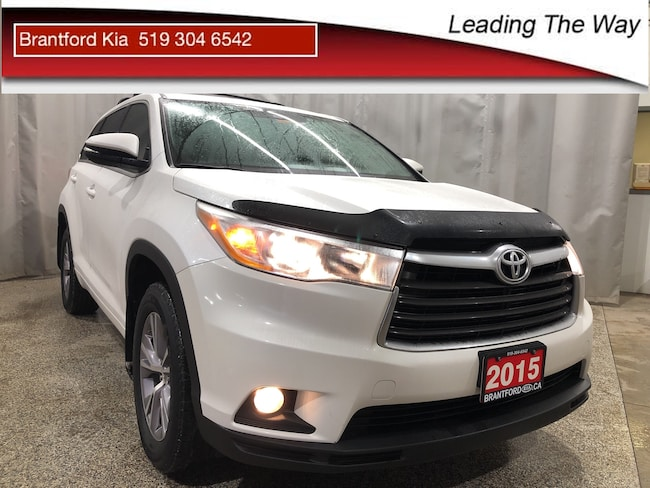 2015 Toyota Highlander LE | V6 | SUV Gas 6 speed automatic Front-wheel Drive White