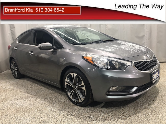 2015 Kia Forte SX | Leather | Nav | from 0.9% finance Sedan Gas A6 Front-wheel Drive Steel Blue(MST)