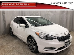 2014 Kia Forte SX | Leather | Nav | from 0.9% finance Sedan Gas 6 speed automatic Front-wheel Drive Clear White(UD)