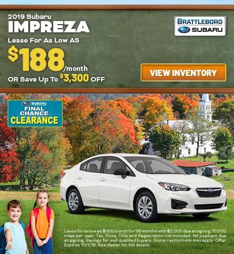 September - 2019 Subaru Impreza