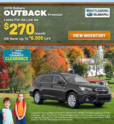 September - 2019 Subaru Outback