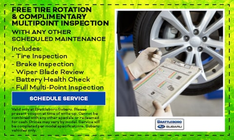 Free Tire Rotation & Complimentary Multipoint Inspection