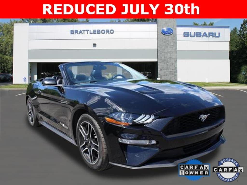 2018 used ford mustang for sale brattleboro vt vin 1fatp8uh9j5111633