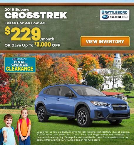 September - 2019 Subaru Crosstrek
