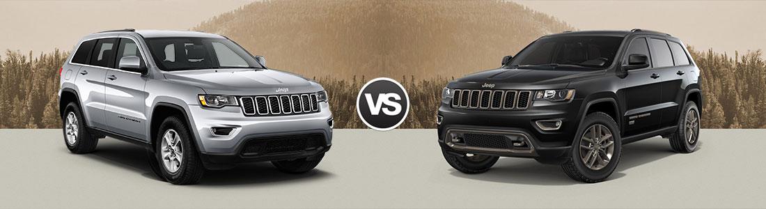 Compare 2017 Jeep Grand Cherokee Laredo vs Grand Cherokee Limited