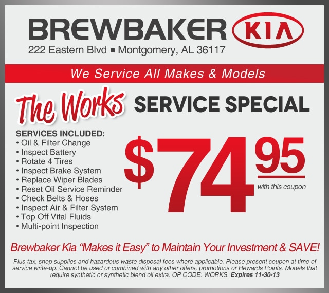 Kia discount coupons
