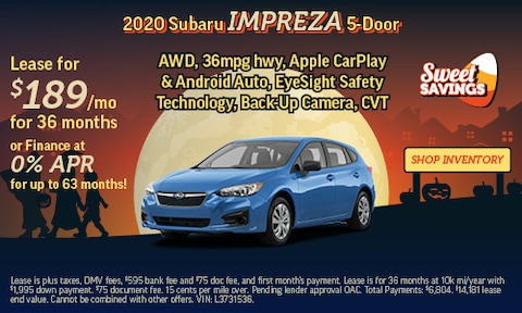 Shop October Specials   2020 Subaru Impreza