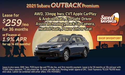 Shop October Specials   2021 Subaru Outback