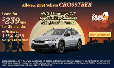 Shop October Specials   2021 Subaru Crosstrek
