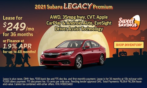 Shop October Specials   2021 Subaru Legacy