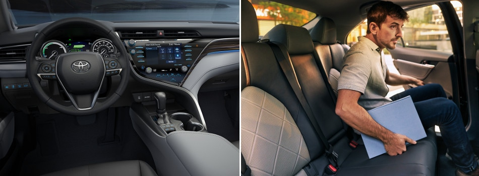 2018 toyota camry interior and technology