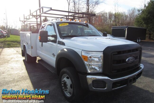 2016 Ford F-450 Utility Service Body XL Supercab 4x4 Pickup Truck