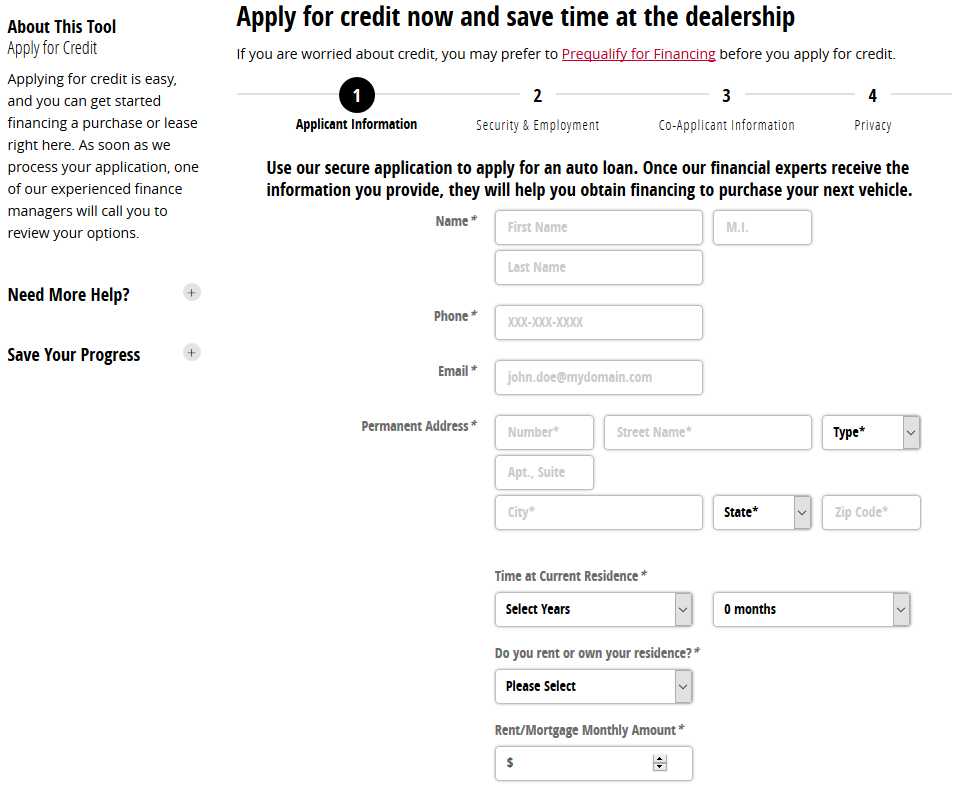 Deal Start Finance Application