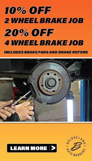10% Off 2 Wheel Brake Job, 20% Off 4 Wheel Brake Job