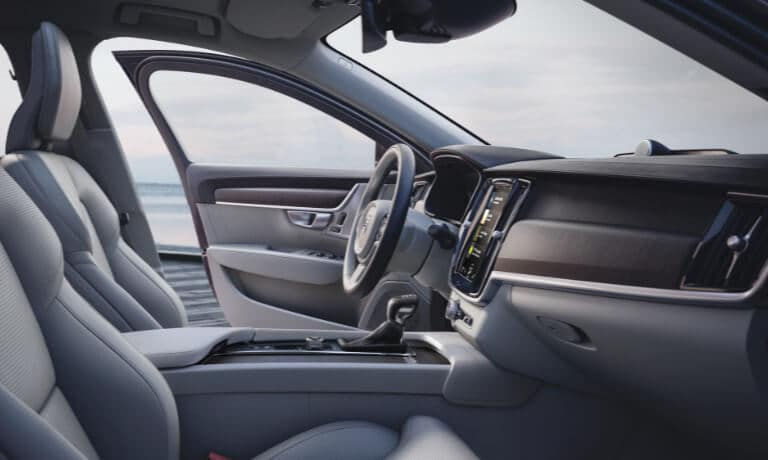 2021 Volvo V90 side passenger interior view