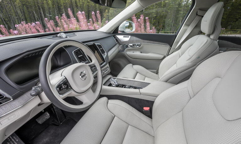 2020 Volvo XC90 interior front driver seat view