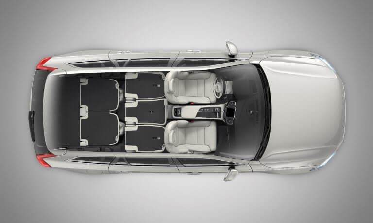 2021 Volvo XC90 interior top seating view
