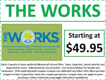 ford motor coupons for oil change