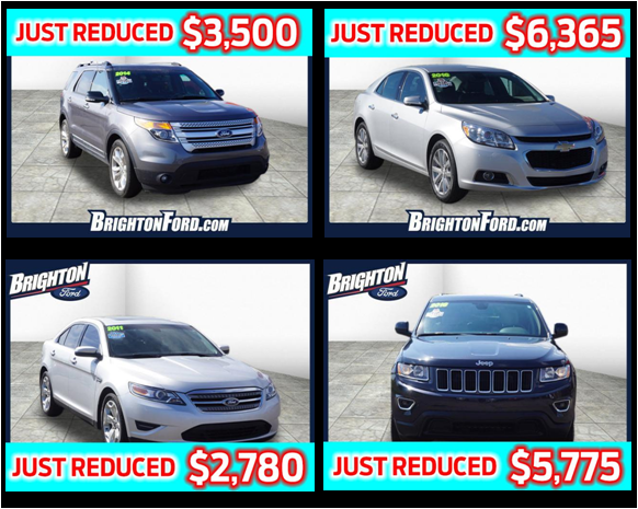 All Used Cars Marked Down At Brighton Ford Brighton Ford