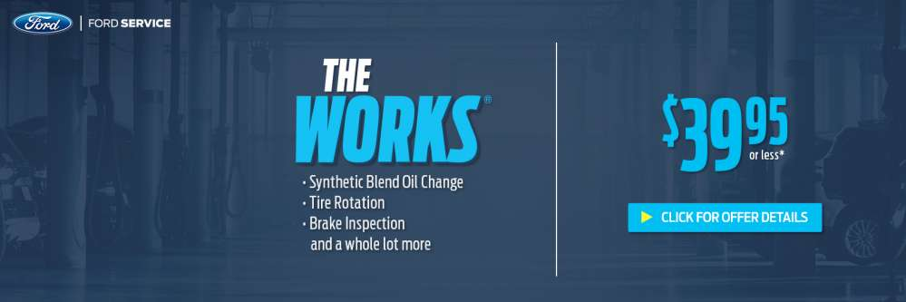 Ford The Works >> 10 Rebate On The Works Oil Change At Brighton Ford