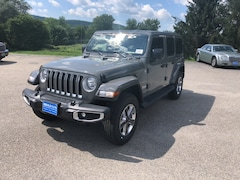 New 2018 Jeep Wrangler UNLIMITED SAHARA 4X4 Sport Utility 1C4HJXEG1JW238372 for sale in Rutland, VT at Brileya's Chrysler Jeep