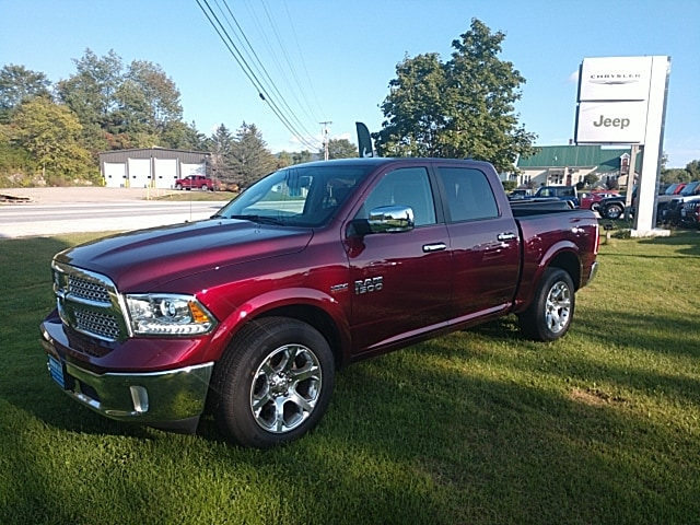 Featured Pre-Owned 2018 Ram 1500 Laramie Truck Crew Cab for sale in Rutland, VT at Brileya's Chrysler Jeep