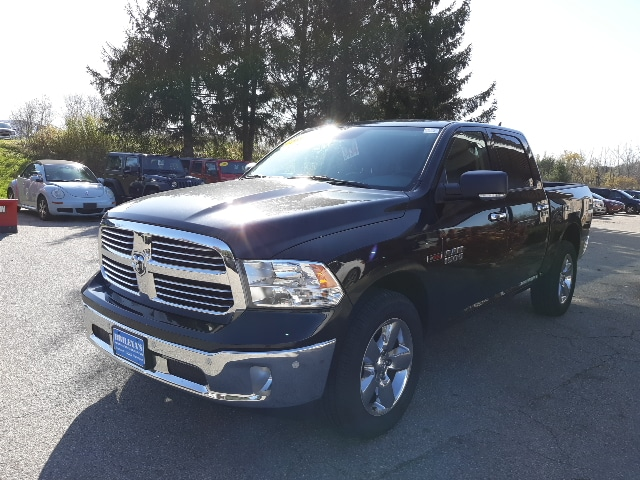 Featured Pre-Owned 2017 Ram 1500 Big Horn Truck Crew Cab for sale in Rutland, VT at Brileya's Chrysler Jeep