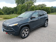 Used 2016 Jeep Cherokee Trailhawk SUV 1C4PJMBB7GW331666 for Sale in Rutland, VT at Brileya's Chrysler Jeep