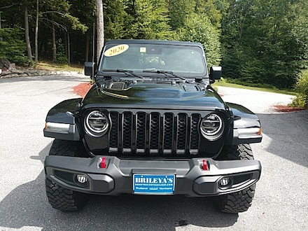 Featured Pre-Owned 2020 Jeep Gladiator Rubicon Truck Crew Cab for sale in Rutland, VT at Brileya's Chrysler Jeep