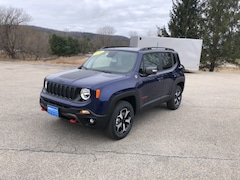 New 2020 Jeep Renegade TRAILHAWK 4X4 Sport Utility ZACNJBC16LPL57777 for sale in Rutland, VT at Brileya's Chrysler Jeep