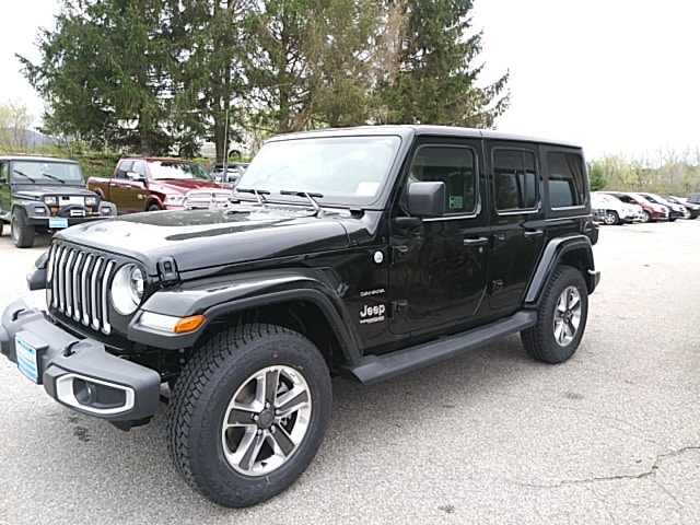 Featured New 2019 Jeep Wrangler UNLIMITED SAHARA 4X4 Sport Utility for sale in Rutland, VT at Brileya's Chrysler Jeep