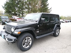 New 2019 Jeep Wrangler UNLIMITED SAHARA 4X4 Sport Utility 1C4HJXEN6KW620655 for sale in Rutland, VT at Brileya's Chrysler Jeep