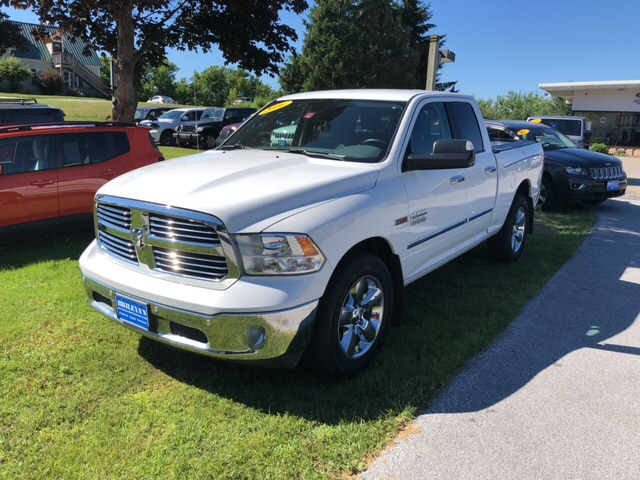 Featured Pre-Owned 2016 Ram 1500 Big Horn Truck Quad Cab for sale in Rutland, VT at Brileya's Chrysler Jeep