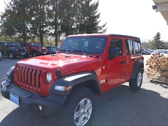 New 2019 Jeep Wrangler UNLIMITED SPORT S 4X4 Sport Utility for sale in Rutland, VT at Brileya's Chrysler Jeep