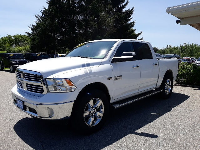 Featured Pre-Owned 2016 Ram 1500 Big Horn Truck Crew Cab for sale in Rutland, VT at Brileya's Chrysler Jeep
