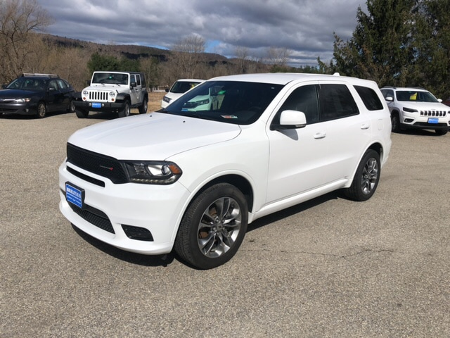 Featured Pre-Owned 2019 Dodge Durango GT Plus SUV for sale in Rutland, VT at Brileya's Chrysler Jeep