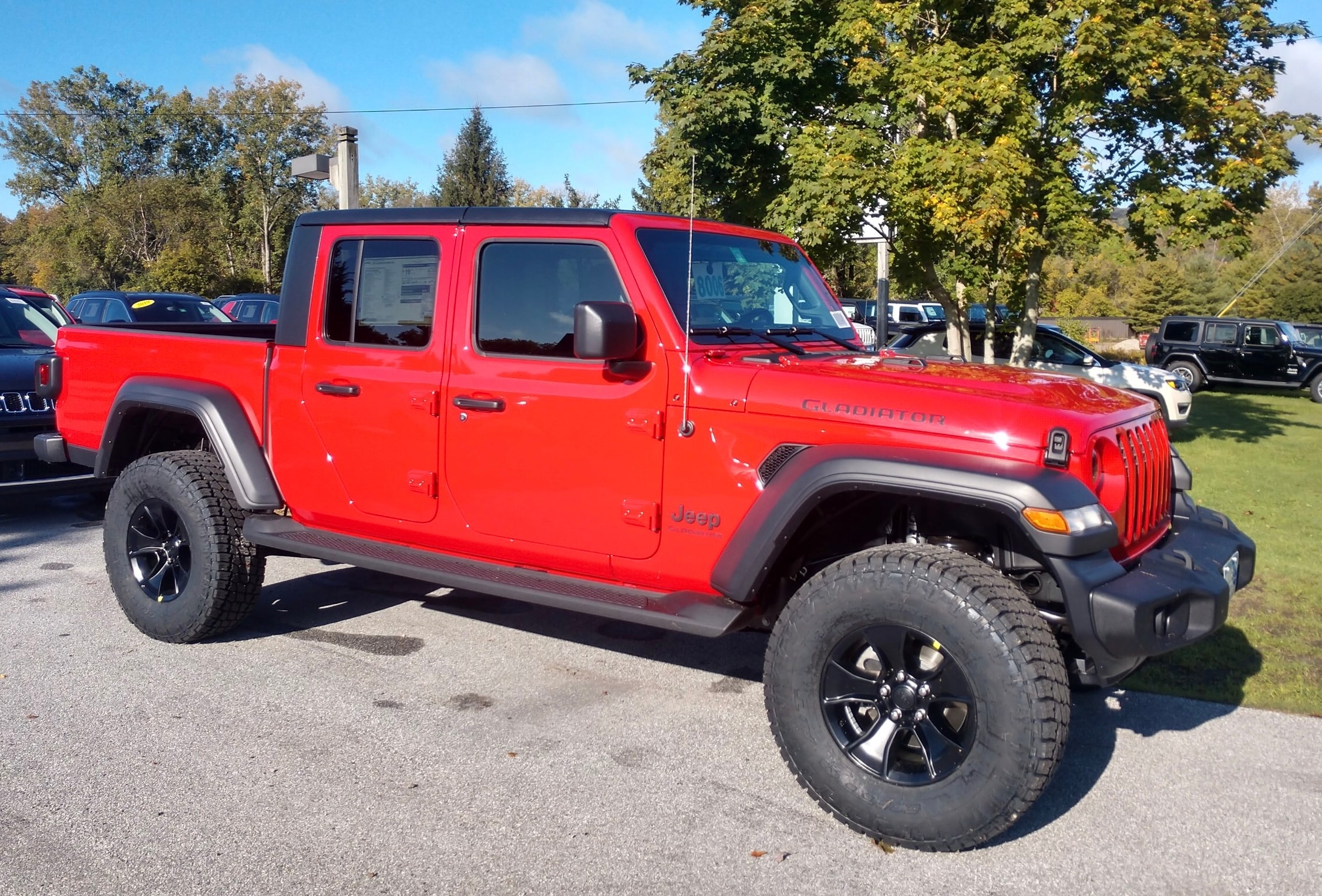 Featured New 2020 Jeep Gladiator SPORT S 4X4 Crew Cab for sale in Rutland, VT at Brileya's Chrysler Jeep