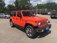 New 2018 Jeep Wrangler UNLIMITED SAHARA 4X4 Sport Utility 1C4HJXEG5JW238455 for sale in Rutland, VT at Brileya's Chrysler Jeep