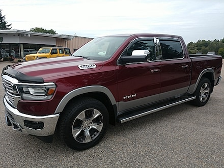 Featured Pre-Owned 2019 Ram 1500 Laramie Truck Crew Cab for sale in Rutland, VT at Brileya's Chrysler Jeep