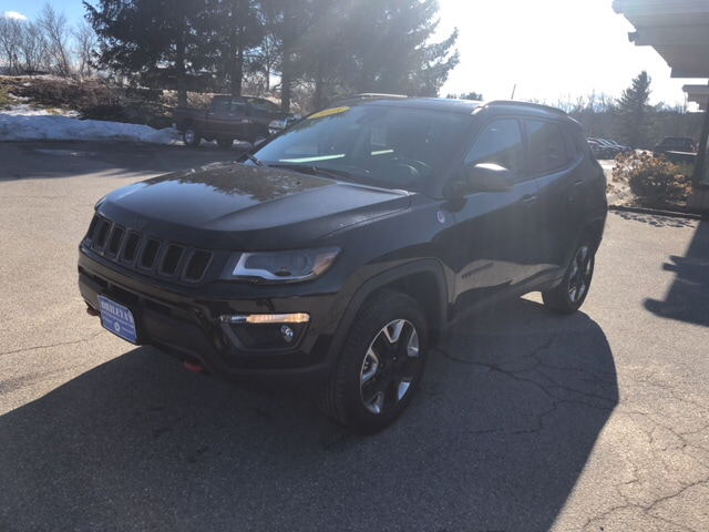 Featured Pre-Owned 2018 Jeep Compass Trailhawk SUV for sale in Rutland, VT at Brileya's Chrysler Jeep