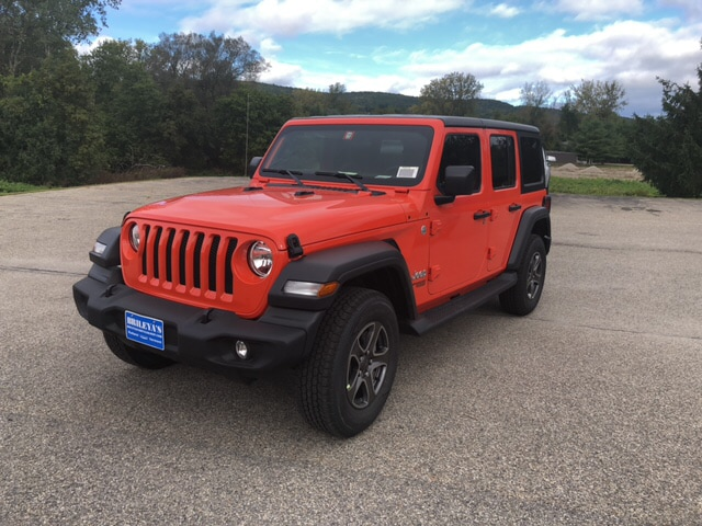 Featured New 2018 Jeep Wrangler UNLIMITED SPORT S 4X4 Sport Utility for sale in Rutland, VT at Brileya's Chrysler Jeep