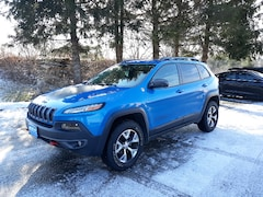 Used 2018 Jeep Cherokee Trailhawk SUV 1C4PJMBX4JD559221 for Sale in Rutland, VT at Brileya's Chrysler Jeep