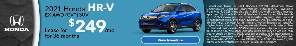 2021 Honda HR-V EX AWD (CVT) SUV
