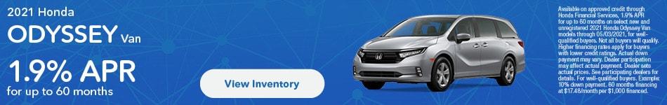 2021 Honda Odyssey Van APR